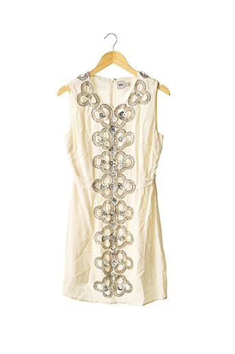 Robe mi-longue beige ASOS pour femme
