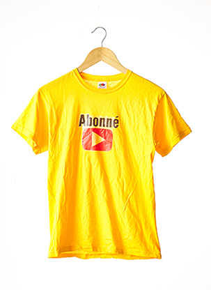 T-shirt manches courtes jaune FRUIT OF THE LOOM pour femme