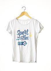 T-shirt manches courtes blanc STANLEY & STELLA pour femme seconde vue