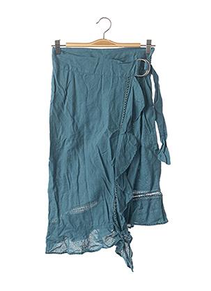 Jupe mi-longue bleu ZARA pour femme