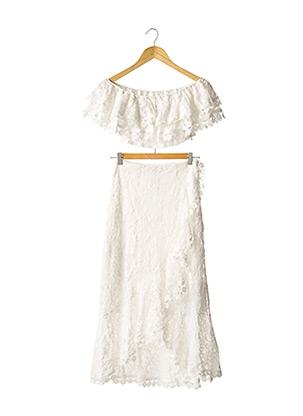 Top/jupe blanc LOAVIES pour femme