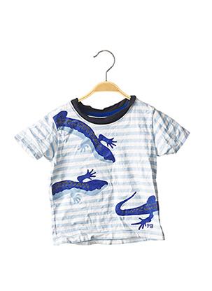 T-shirt manches courtes bleu PETIT BATEAU pour garçon