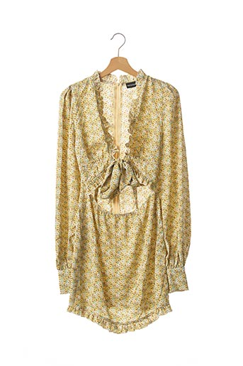 Robe courte jaune PRETTY LITTLE THING pour femme