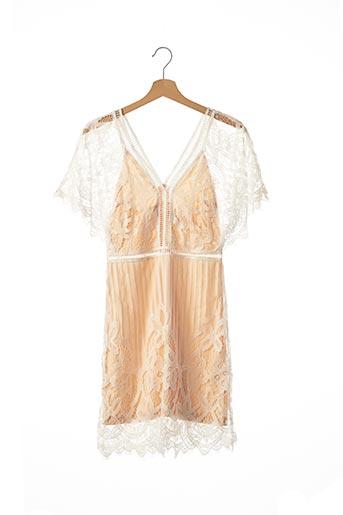 Robe mi-longue blanc BOOHOO pour femme