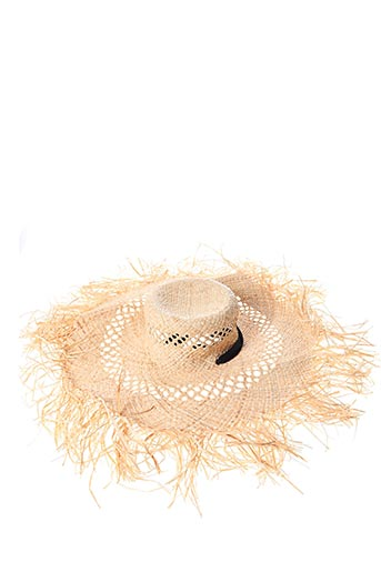 Chapeau beige MAISON FEUTRE pour femme