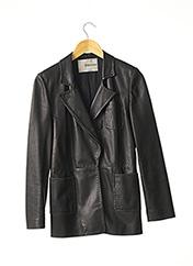 Veste en cuir noir ERMANNO SCERVINO pour femme seconde vue