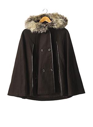 Manteau court marron INDIES pour femme