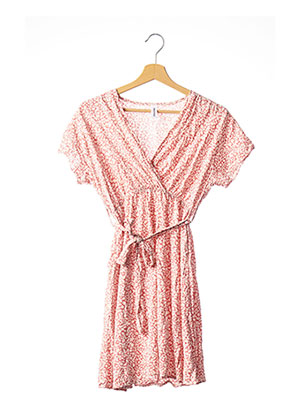 Robe courte rose MADE IN ITALY pour femme