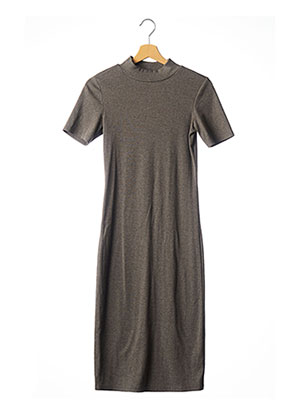 Robe mi-longue gris ZARA pour femme