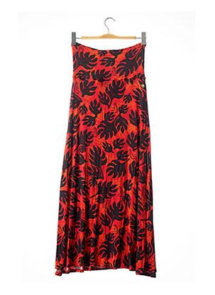 Robe mi-longue rouge HINANO pour femme