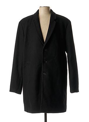 Manteau long noir JACK & JONES pour homme