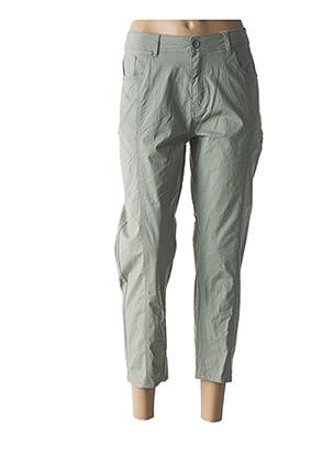Pantalon 7/8 vert S.QUISE pour femme