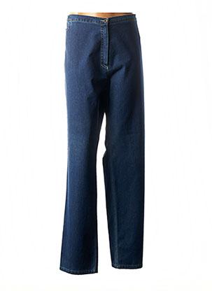 Jeans coupe droite bleu CHRISTIAN MARRY pour femme