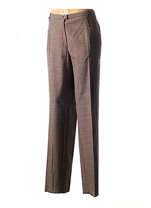 Pantalon chic marron CHRISTIAN MARRY pour femme