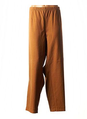 Pantalon casual marron CHALOU pour femme