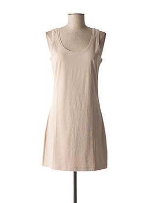 Robe mi-longue beige SANDWICH pour femme