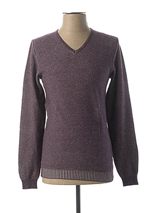 Pull col V violet NO EXCESS pour homme