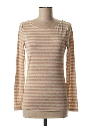 T-shirt manches longues beige ICHI pour femme
