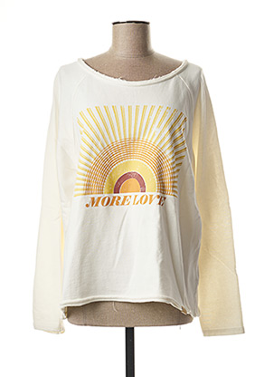 Sweat-shirt beige BLEND SHE pour femme