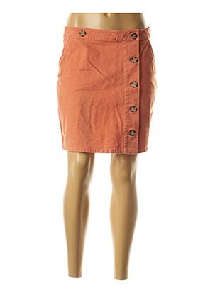 Jupe courte orange BLEND SHE pour femme
