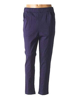 Pantalon casual bleu POMME ROUGE pour femme