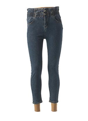 Jeans coupe slim bleu FARFALLINA pour femme