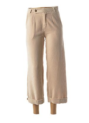 Pantalon 7/8 beige OTTANTOTTO pour femme
