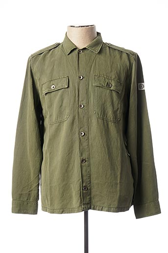 Chemise manches longues vert SERGE BLANCO pour homme