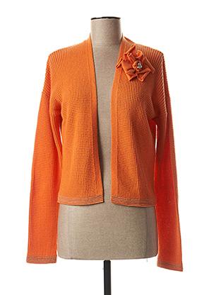 Gilet manches longues orange CAROLINE BISS pour femme
