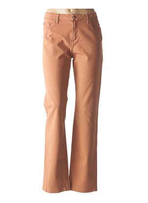 Jeans coupe droite marron VOTRE NOM pour femme