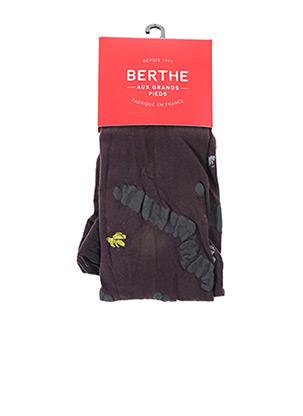 Collants marron BERTHE AUX GRANDS PIEDS pour femme