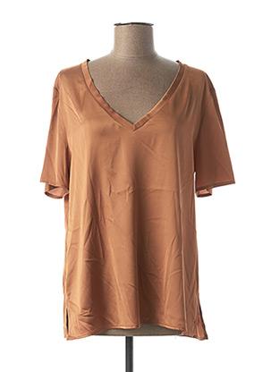 Blouse manches courtes orange IMPERIAL pour femme