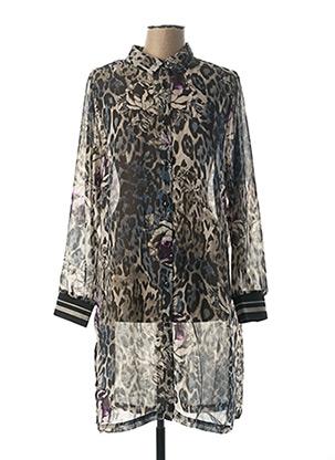 Robe mi-longue gris CISO pour femme