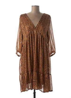 Robe mi-longue marron SENES pour femme