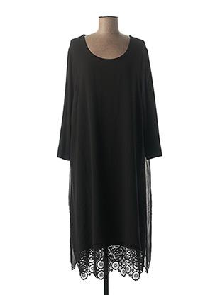 Robe mi-longue noir CISO pour femme