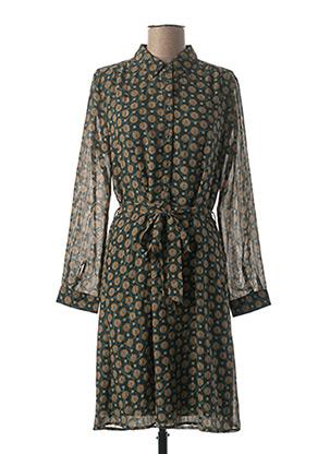 Robe mi-longue vert LA PETITE ETOILE pour femme