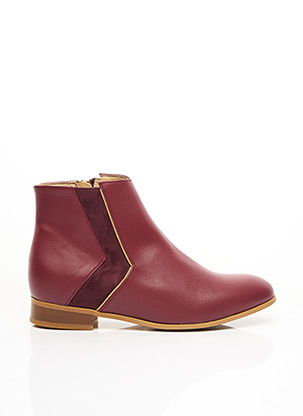 Bottines/Boots rouge MINUIT SUR TERRE pour femme