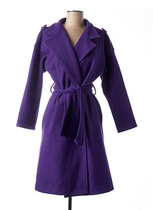 Manteau long violet MADAME MARIUS pour femme