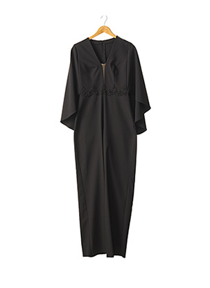 Combi-pantalon noir FASHION NEW YORK pour femme