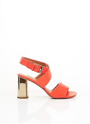Sandales/Nu pieds orange CLERGERIE pour femme