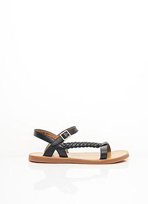 Sandales/Nu pieds noir POM D'API pour fille