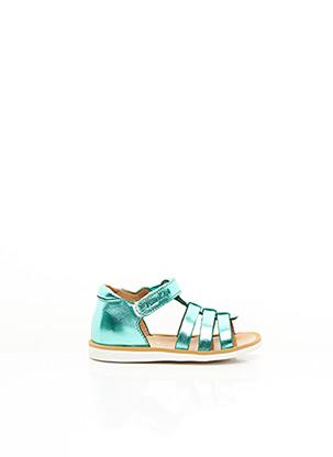 Sandales/Nu pieds vert POMME D'API pour fille