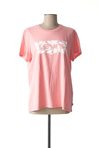 T-shirt manches courtes rose LEVIS pour femme