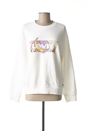 Sweat-shirt blanc LEVIS pour femme