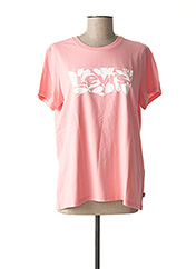 T-shirt manches courtes rose LEVIS pour femme seconde vue