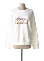 Sweat-shirt blanc LEVIS pour femme seconde vue