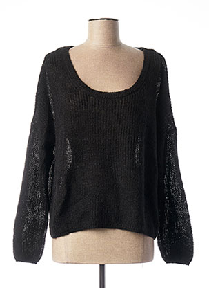 Pull col rond noir ONLY pour femme