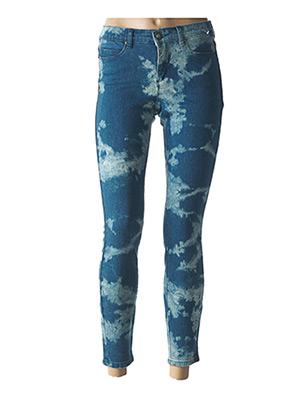 Jeans coupe slim bleu OBEY PROPAGANDA pour femme