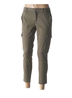 Pantalon 7/8 vert ONLY pour femme