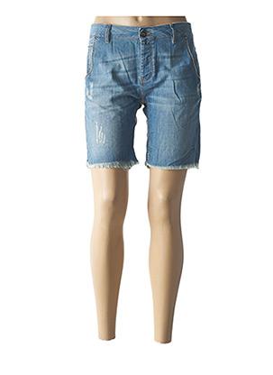 Short bleu REIKO pour femme